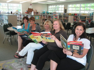 Dianne, 2nd from left, with teachers at Peachland Elementary School